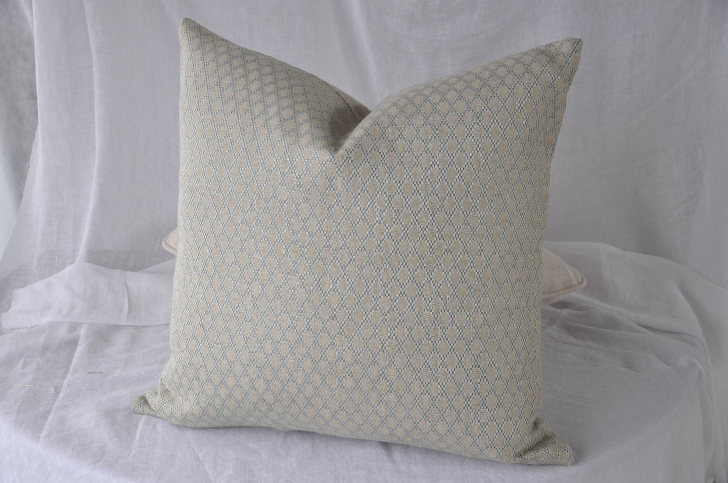 Colefax & Fowler Bertram Dark Aqua Cushion Cover