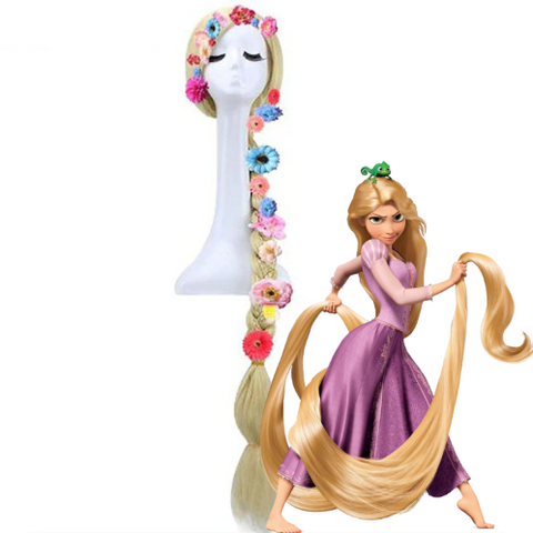 """Tangled"" Rapunzel Braided Blonde Cosplay Wig"