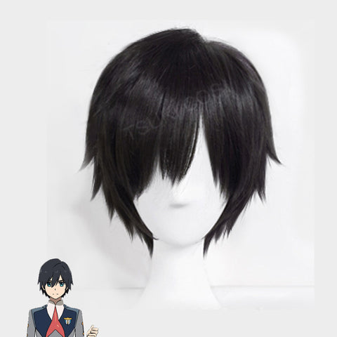 23cm DARLING in the FRANXX Hiro Cosplay Wig + Cap