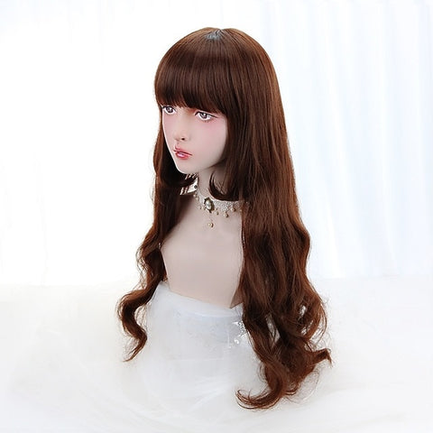 "28"" WavyLolita Wig With Bangs"