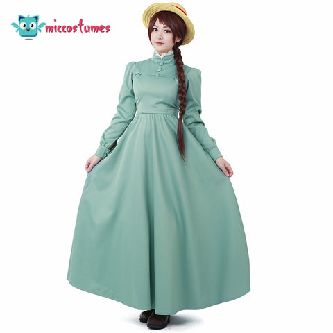 Sophie Hatter Dress Cosplay Howl's Moving Castle Cosplay Women Halloween Costume Long Dress