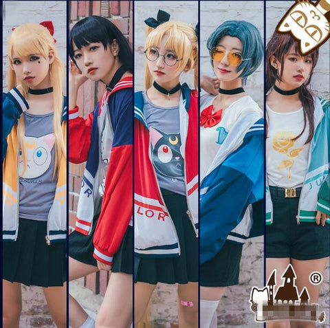 Sailor Moon Baseball Jacket Cosplay
