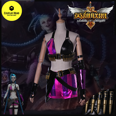 LoL Jinx Original Skin Cosplay Costume