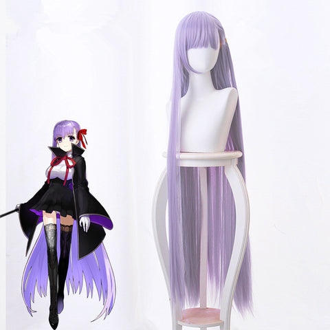 Fate EXTRA CCC BB Byibyi Purple 120cm Straight Cosplay Wig + Cap