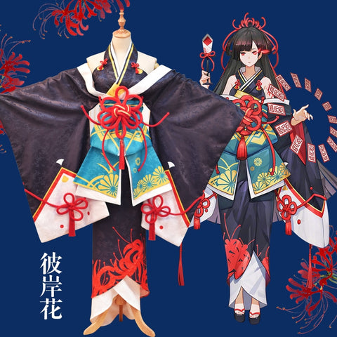 Onmyoji Equinox Flower Lycoris Radiata Kimono Cosplay Costume
