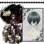Black Butler Ciel Phantomhive 30 CM Dark Blue Cosplay Wig