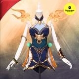 LOL Lux Lunar Empress Cosplay Costume (Dress+Wristband+Socks+Headdress+Bracelet)