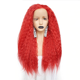 Free Part Long Curly (Red, Pink, Orange, Brown, Blonde) Lace Front Wig