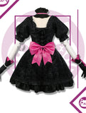 Overwatch Black Cat D.Va Cosplay Costume (Dress+Headdress+Earring+Gloves+Socks)