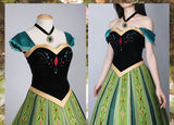 Disney Frozen Princess Anna Coronation Cosplay Costume