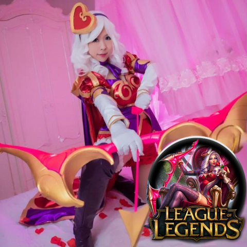 LoL PU Leather Heartseeker Ashe Cosplay Costume