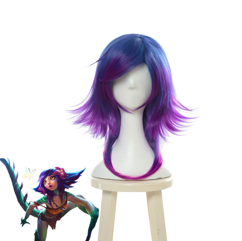 League of Legends Neeko The Curious Chameleon Cosplay Wig