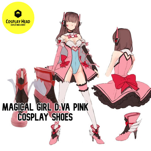 Magical Girl D.va Pink Cosplay Shoes