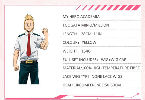 My Hero Academia Mirio Toogata Million Cosplay Wig