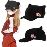 Neon Genesis Evangelion Asuka Langley Soryu Cat Ears Hat Cosplay