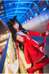 Fate Grand Order Tohsaka Rin Craft Essence Magical Ruby Red Dress Costume Cosplay