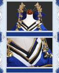 Fate Grand Order Tamamo no Mae Blue Kimono Dress Cosplay Costume