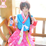 Overwatch D.Va Cos Chinese/Korea New Year Kimono Cosplay + Headwear + Blessing bag