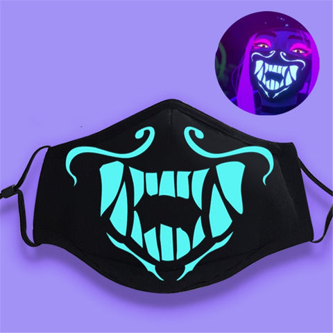 League of Legends K/DA Akali Assassin Face Mask Cosplay
