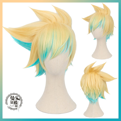 LOL Star Guardian Ezreal Cosplay Wig+Cap