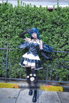 LoveLive! Sunshine!! Aqours Tsushima Yoshiko Little Devil Cosplay Costume (Top+Skirt+Socks+Gloves+Wings+Wig)