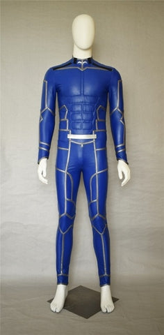 Fate/Extra Stay Night Lancer Chulainn PU Leather Jumpsuit Cosplay Costume