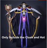Overlord Ainz Ooal Gown Momonga Cosplay Costume Cloak with Hat (custom made/sizing)