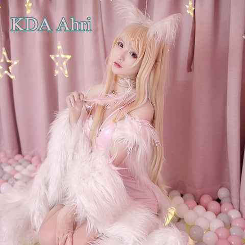 LoL KDA Ahri Illustration Magazine Style Cosplay Costume