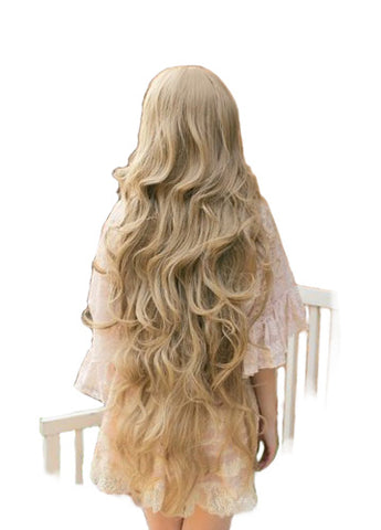 100cm Long Wavy Blonde Casual Wig