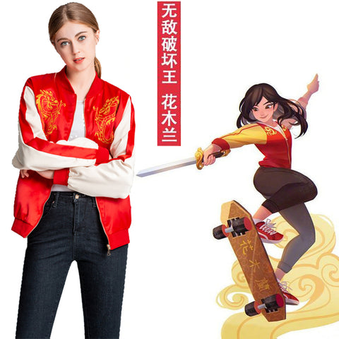 Ralph Breaks the Internet: Wreck-It Ralph 2 Mulan Cosplay Costume Jacket