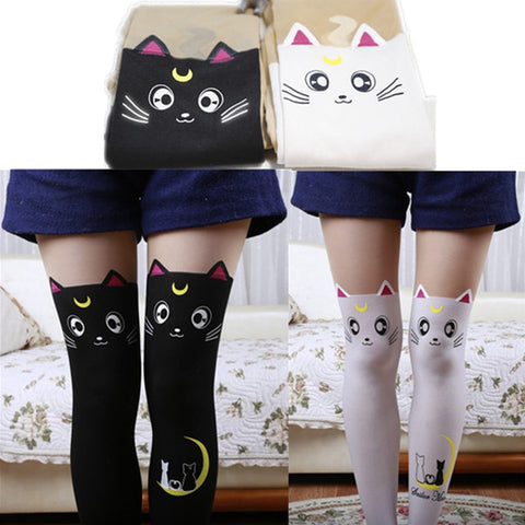Sailor Moon Cat Luna Stockings