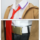 Steins Gate Kurisu Makise Cosplay Full Set (Coat + Shirt + Shorts)