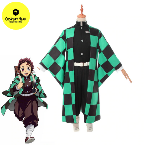 Demon Slayer Tanjirou Kamado Kimono Cosplay Costume