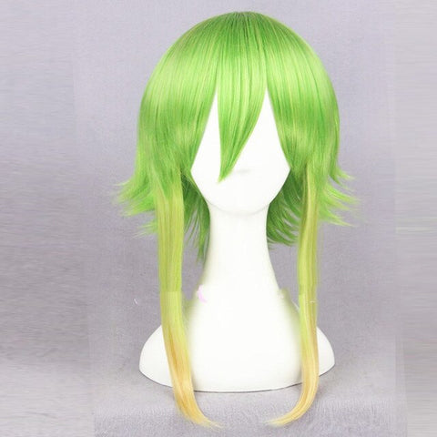 "14"" Vocaloid Gumi Golden Green Ombre Cosplay Wig"