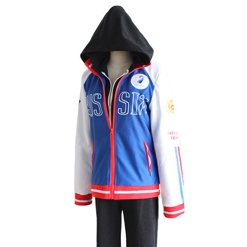 Yuri on Ice Yuri Plisetsky Russia Coat Cosplay
