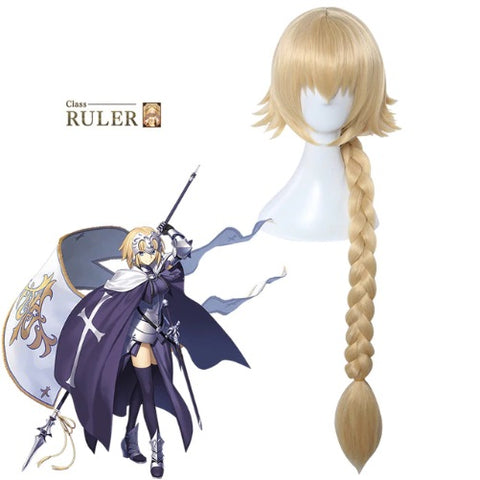 Fate/Grand Order Jeanne d'Arc 90 CM Long Gold Cosplay Wig