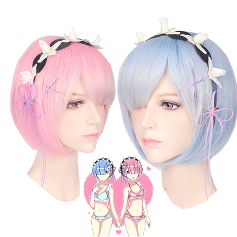 Re:Zero Ram & Rem Headdress Cosplay Wig