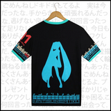 Vocaloid Hatsune Miku Printed T shirt Cosplay