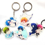 5pcs/set Free! Iwatobi Swim Club Keychains