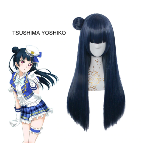 Love Live! Sunshine Tsushima Yoshiko Long Cosplay Wig