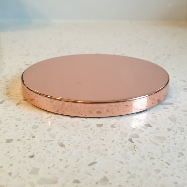 Rose Gold Steel Candle Lid
