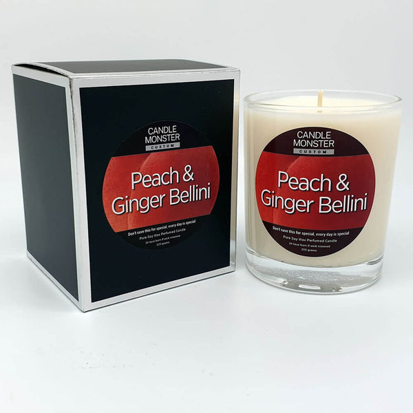 Peach & Ginger Bellini Scented Candle - Candle Monster