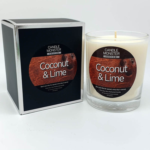 Coconut & Lime Scented Candle - Candle Monster