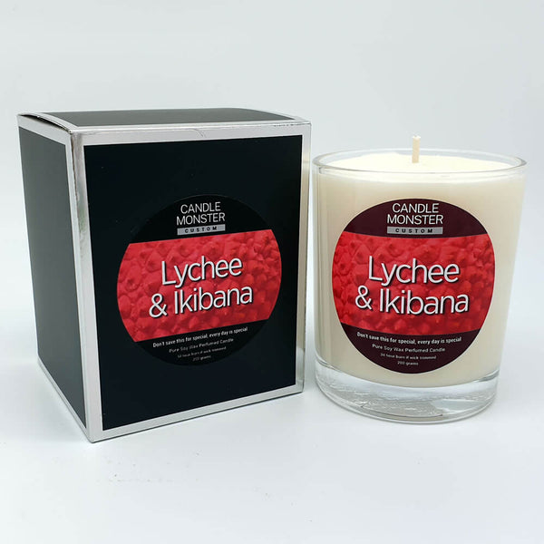 Lychee & Ikibana Scented Candle - Candle Monster
