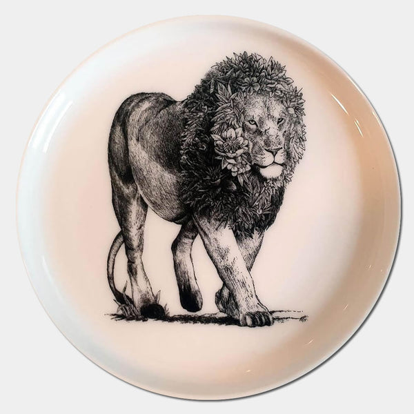 African Lion Saucer - Candle Monster