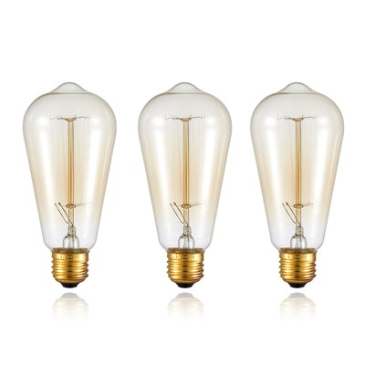 Ohr Lighting® Vintage Style Edison Bulb 40W - 4 PACK (OHL-101-X4)