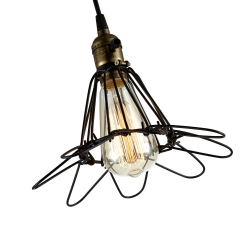 Wire Ceiling Pendant Light Bulb Included Ed262p
