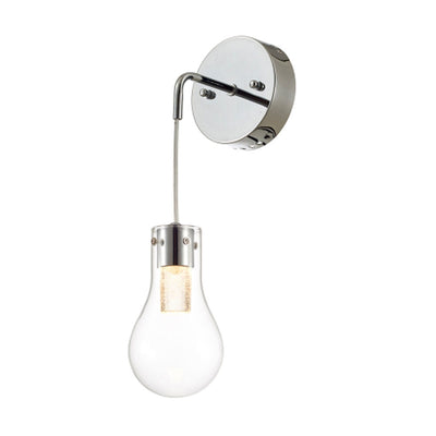 Ohr Lighting® OPAL LED Wall Sconce, Chrome/Clear (LD334W)