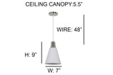 Ohr Lighting®Modern Lighting Pendant Nickel Strutt Pendant (OH132)