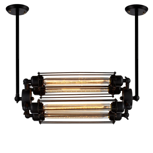Edison Caged Horizontal Pendant Light with 4 Bulbs Included (ED274P2-4)